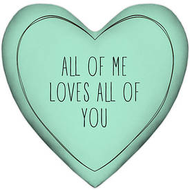 Подушка сердце XXL All of me loves all of you