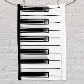 Полотенце маленькое с принтом Piano