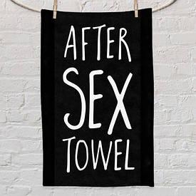 Полотенце маленькое с принтом After sex towel