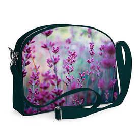Сумка молодіжна College Фіолетові квіти