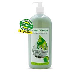 Органический гель для мытья посуды. Зеленое яблоко (0.5мл.)(Сменка).