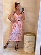 Сарафан з прошви прямого крою на ґудзиках з відкритими грудьми, 00810 (Пудра), Розмір 46 (L), фото 2