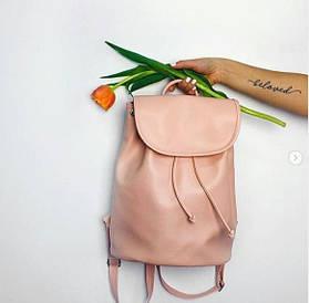 Рюкзак женский кожзам Mod MAXI, цвет пудровый