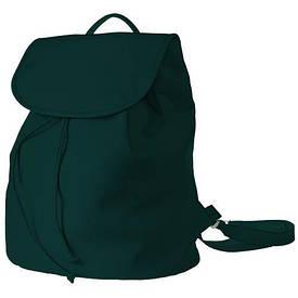 Рюкзак женский кожзам Mod MAXI, цвет темно-зеленый