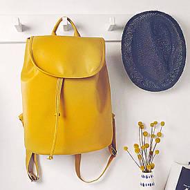 Рюкзак женский кожзам Mod MAXI, цвет желтый