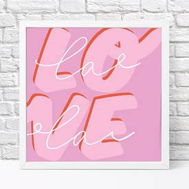 Постер в рамці, 30х30 см Love lala