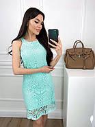 Легке жіноче плаття без рукавів прямого крою, 00813 (М'ятний), Розмір 42 (S), фото 2