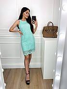 Легке жіноче плаття без рукавів прямого крою, 00813 (М'ятний), Розмір 42 (S), фото 3