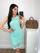 Легке жіноче плаття без рукавів прямого крою, 00813 (М'ятний), Розмір 42 (S), фото 4