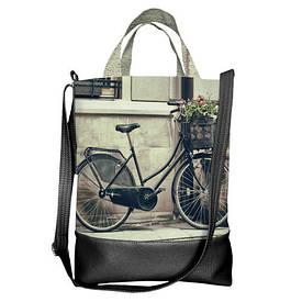 Городская сумка City Велосипед и цветы