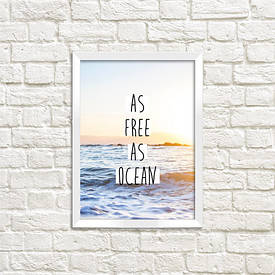 Постер в рамці A5 As free as ocean