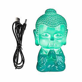 Світильник-LED Будда, USB, колір морської хвилі
