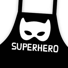 Фартух підлітковий з написом Superhero (супергерой)