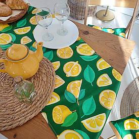 Доріжка на стіл (раннер) Лимони