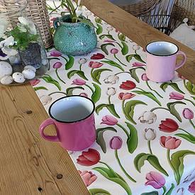 Доріжка на стіл (раннер) Тюльпани