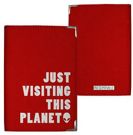 Обкладинка на паспорт Just visiting this planet