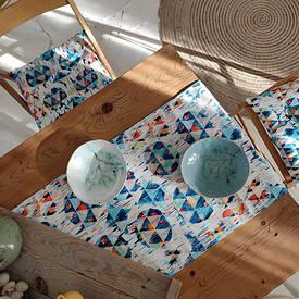 Доріжка на стіл (раннер) Розмитий орнамент