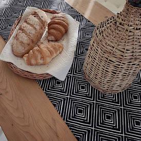 Доріжка на стіл (раннер) Ромбоподібний орнамент