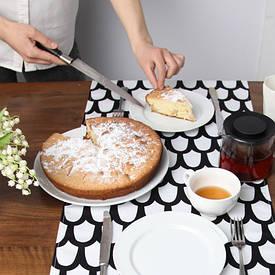 Доріжка на стіл (раннер) Чорно-білий візерунок