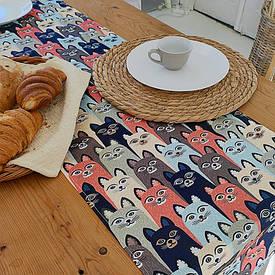 Доріжка на стіл (раннер) Коти