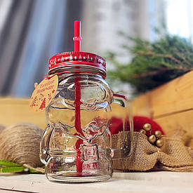 Банка с ручкой Jar новогодняя, Санта