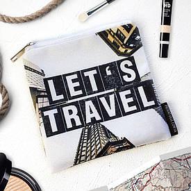 Косметичка квадратная Basic Let`s travel
