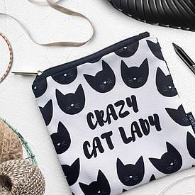 Косметичка квадратная Basic Сrazy cat lady
