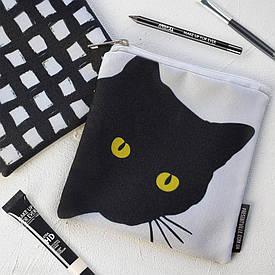 Косметичка квадратная Basic Черная кошка