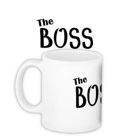 Кружка с принтом The boss