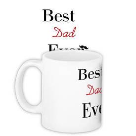 Кружка с принтом Best dad ever