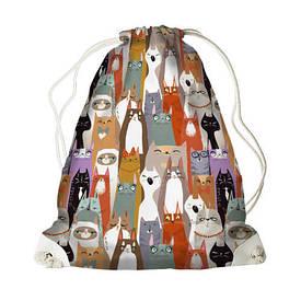 Рюкзак-мешок MINI Коты