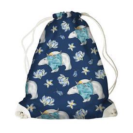 Рюкзак-мешок MINI Белые мишки
