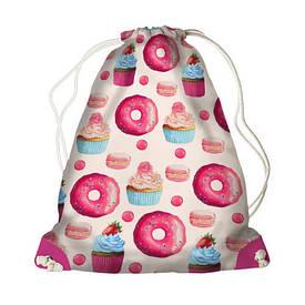 Рюкзак-мешок MINI Розовые пироженки