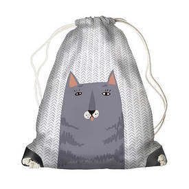 Рюкзак-мешок MINI Серый кот