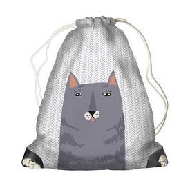 Рюкзак-мішок MINI Сірий кіт