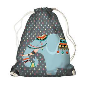 Рюкзак-мешок MINI Слон-индеец