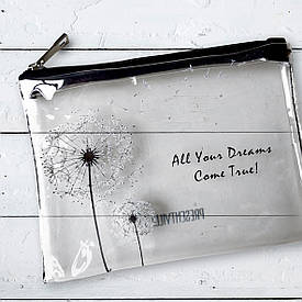 Косметичка пластиковая прозрачная All your dreams come true