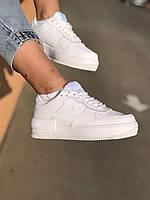Кроссовки женские Nike Air Force 1 Shadow white кеды повседневные белые найк аир форс шадоу
