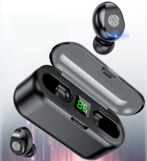 Беспроводные наушники с Повер Павер Банк Amoi F9-touch - Вакуумные наушники - Блютуз Блютус Наушники