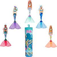 Кукла Барби русалочка с 7-ю сюрпризами Цветное преображение S4 Barbie Color Reveal Doll GTP43 Пром-цена, фото 1