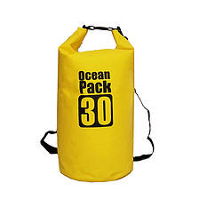Водонепроницаемый рюкзак гермомешок с шлейкой на плечо Ocean Pack 10 л Yellow 5535821531201, КОД: 1925542