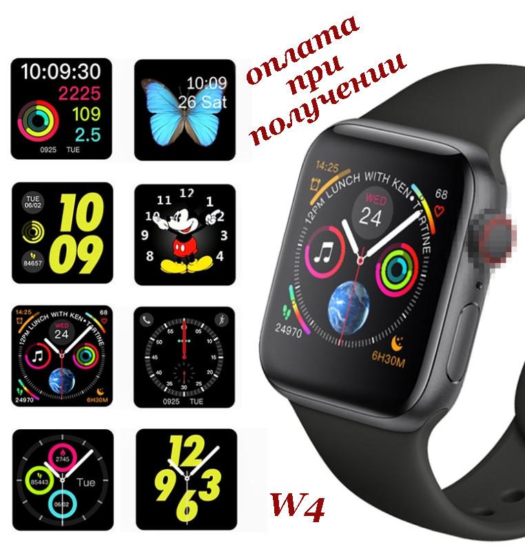 Умные Smart Watch смарт фитнес браслет часы трекер W4 ПОШТУЧНО на РУССОКОМ вCтиле SAMSUNG Apple Series Watch 5