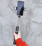 Штатив для телефона універсальний, селфі палка Adna Selfie P60D2 з кнопкою пультом Bluetooth, 2 спалахи, фото 6