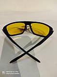 Очки солнцезащитные мужские антифары Matrix Avatar Polaroid Sport Поляризованные антибликовые очки желтые, фото 5