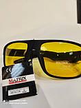 Очки солнцезащитные мужские антифары Matrix Avatar Polaroid Sport Поляризованные антибликовые очки желтые, фото 3