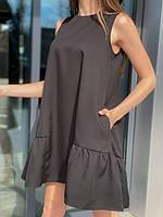 Платье женское 391 (42-46 универсал) (цвета: черный, бежевый, белый, розовый) СП, фото 1