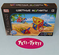 """Магнитный цветной конструктор Play Smart, """"Цветные магниты"""", 20 деталей, 2467"""