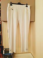 Белые брюки жатка на резинке Trieste