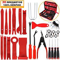 """Набор инструментов для снятия обшивок (облицовки, клипс), демонтажа деталей салона автомобиля """"PROFI 38"""""""