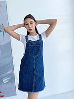 Женский джинсовый сарафан 2990 (42 44 46) (цвета: джинс) Турция СП, фото 1